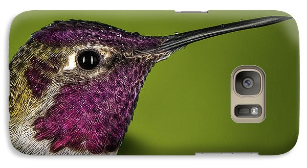 Galaxy Case featuring the photograph Hummingbird Head Shot With Raindrops by William Lee