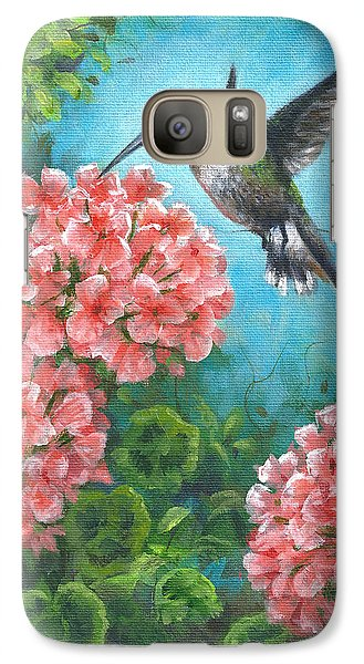 Galaxy Case featuring the painting Hummingbird Heaven by Kim Lockman