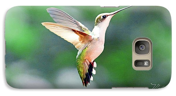 Galaxy Case featuring the photograph Hummingbird Hovering by Meta Gatschenberger