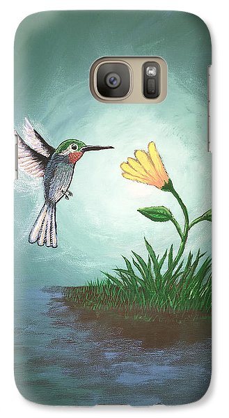 Galaxy Case featuring the painting Hummingbird II by Antonio Romero