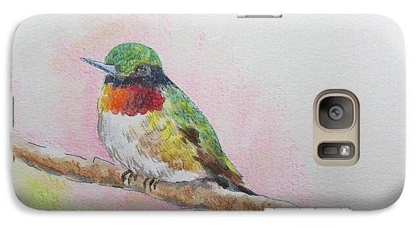 Galaxy Case featuring the painting Hummingbird II by Gloria Turner