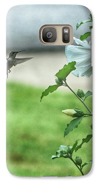 Galaxy Case featuring the photograph Hummingbird In Flight by Yvonne Emerson AKA RavenSoul