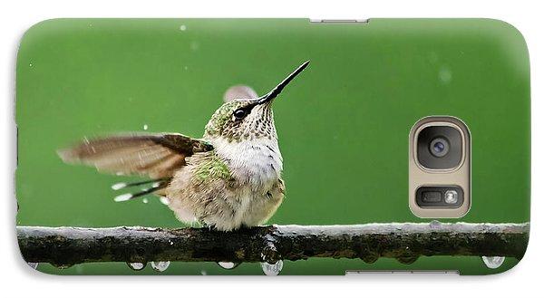 Hummingbird In The Rain Galaxy S7 Case by Christina Rollo