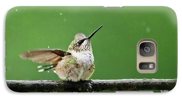 Hummingbird In The Rain Galaxy S7 Case
