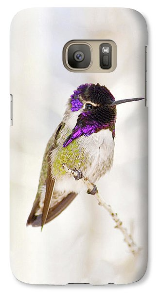 Galaxy Case featuring the photograph Hummingbird Larger Background by Rebecca Margraf