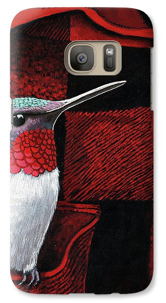 Galaxy Case featuring the painting Hummingbird Memories by Linda Apple