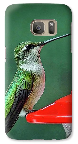 Galaxy Case featuring the photograph Hummingbird Portrait by Sue Melvin
