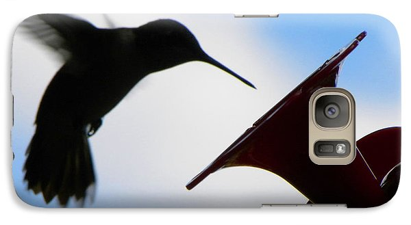 Galaxy Case featuring the photograph Hummingbird Silhouette by Sandi OReilly