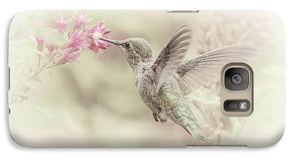 Galaxy Case featuring the photograph Hummingbird Softly by Angie Vogel