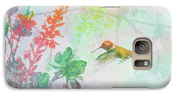 Galaxy Case featuring the digital art Hummingbird Summer by Christina Lihani