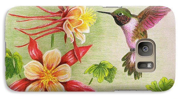 Galaxy Case featuring the painting Hummingbird's Delight by Judy Filarecki
