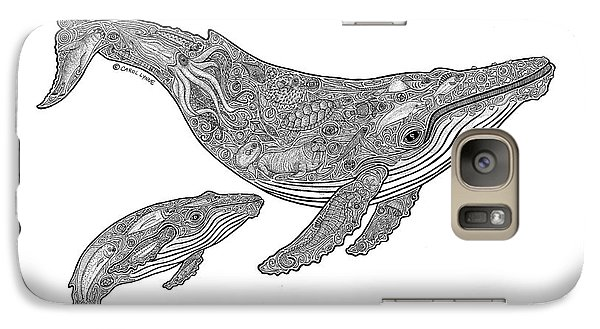 Whale Galaxy S7 Case - Humpback And Calf by Carol Lynne