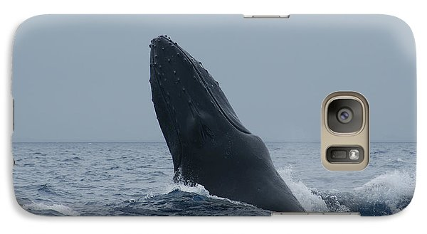 Galaxy Case featuring the photograph Humpback Whale Breaching by Gary Crockett