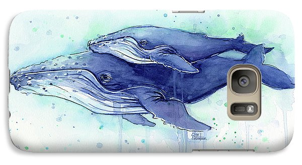 Humpback Whale Mom And Baby Watercolor Galaxy S7 Case