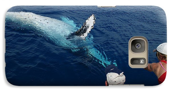 Galaxy Case featuring the photograph Humpback Whale Reaching Out by Gary Crockett