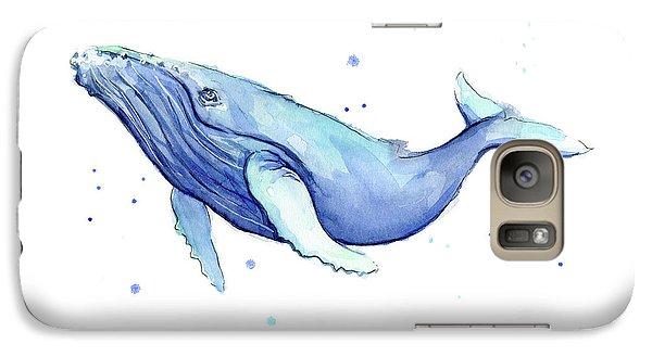 Whale Galaxy S7 Case - Humpback Whale Watercolor by Olga Shvartsur