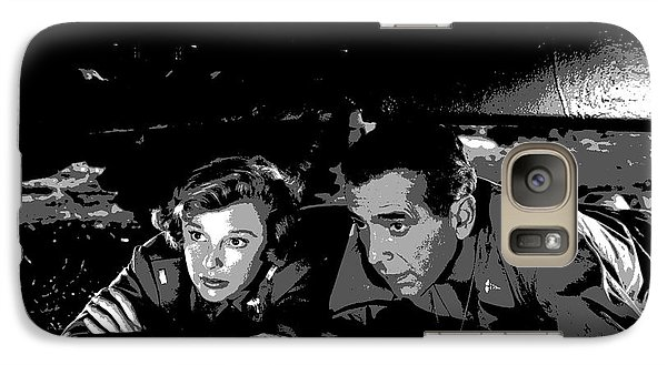 Galaxy Case featuring the mixed media Humphrey Bogart June Allyson by Charles Shoup