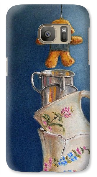 Galaxy Case featuring the painting Hung Up by Ceci Watson
