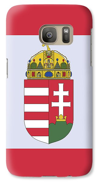 Galaxy Case featuring the drawing Hungary Coat Of Arms by Movie Poster Prints