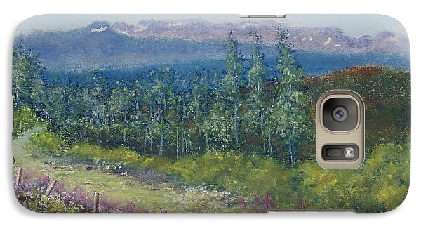Galaxy Case featuring the painting Summer Flowers On Hungry Hill by Stanza Widen