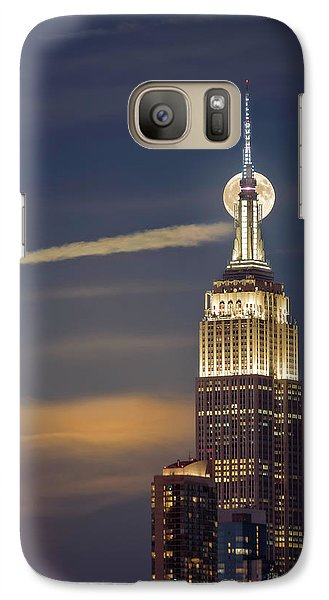Galaxy Case featuring the photograph Hunter's Moon by Eduard Moldoveanu