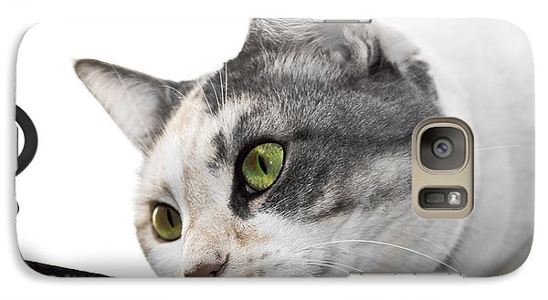 Galaxy Case featuring the photograph Hunting Cat by Yurix Sardinelly