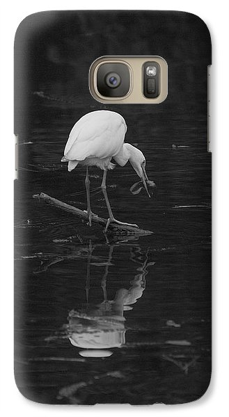 Galaxy Case featuring the photograph Hunting Egret by Joshua House