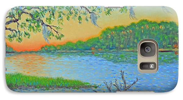 Galaxy Case featuring the painting Hunting Island Lagoon 2 by Dwain Ray