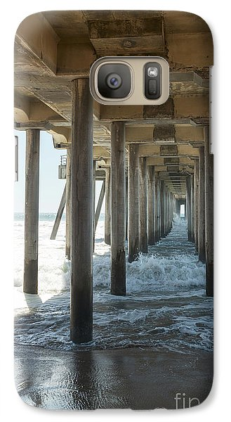 Galaxy S7 Case featuring the photograph Huntington Beach Pier From Below by Ana V Ramirez