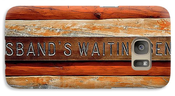 Galaxy Case featuring the photograph Husband's Waiting Bench - Denali National Park by Joseph Hendrix