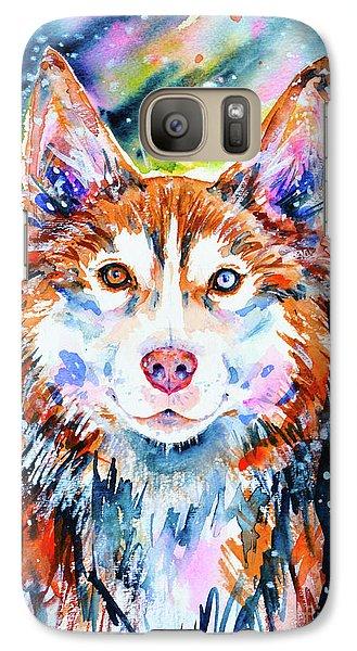 Galaxy Case featuring the painting Husky by Zaira Dzhaubaeva