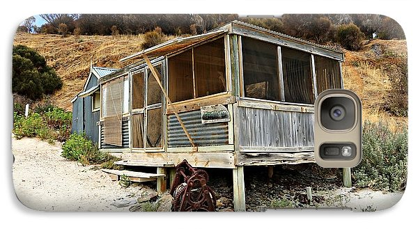 Galaxy Case featuring the photograph Hut At Western River Cove by Stephen Mitchell