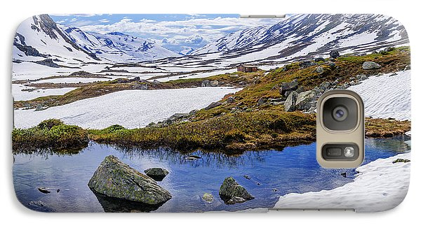 Galaxy Case featuring the photograph Hut In The Mountains by Dmytro Korol