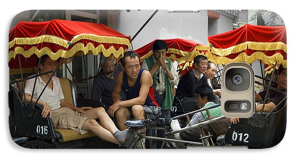 Galaxy Case featuring the photograph Hutong Tour Driveres by R Thomas Berner