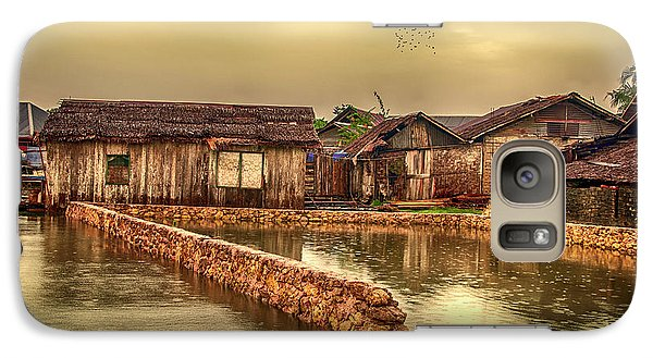 Galaxy Case featuring the photograph Huts 2 by Charuhas Images