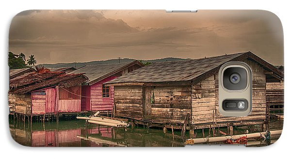 Galaxy Case featuring the photograph Huts In South Sulawesi by Charuhas Images