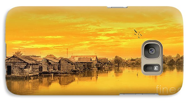 Galaxy Case featuring the photograph Huts Yellow by Charuhas Images