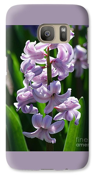 Galaxy Case featuring the photograph Hyacinth 20120402_127a by Tina Hopkins
