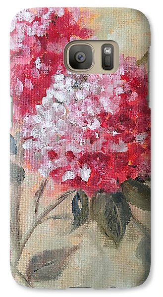 Galaxy Case featuring the painting Hydranga by Sharon Schultz
