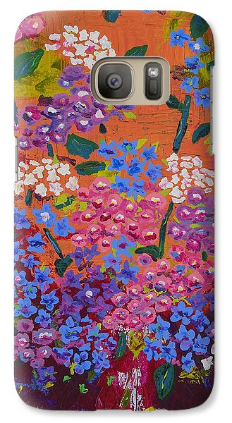 Galaxy Case featuring the painting Hydrangea Collage by Angela Annas