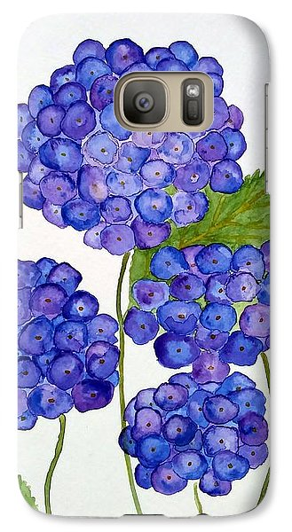 Galaxy Case featuring the painting Hydrangea by Reina Resto