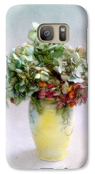Galaxy Case featuring the photograph Hydrangeas In Autumn Still Life by Louise Kumpf