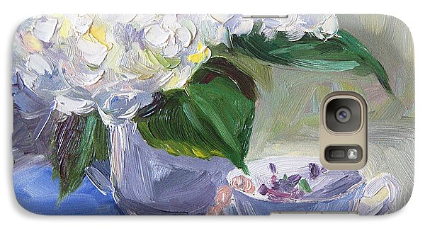 Galaxy Case featuring the painting Hydrangeas With Pearls  by Jennifer Beaudet