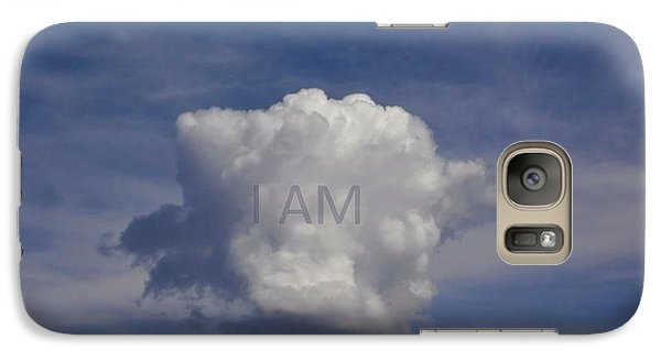 Galaxy Case featuring the photograph I Am One Cloud Affirmation by Deborah Moen