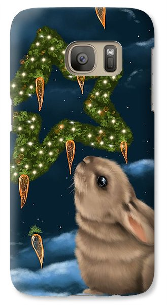 Galaxy Case featuring the painting I Can Smell The Christmas In The Air by Veronica Minozzi