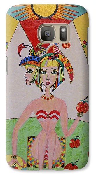 Galaxy Case featuring the painting I Don't Like This Apple by Marie Schwarzer