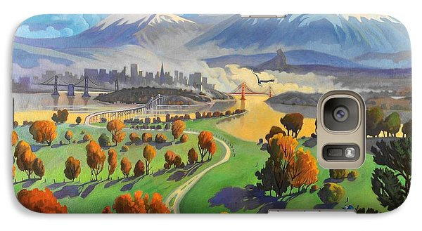 Galaxy Case featuring the painting I Dreamed America by Art James West