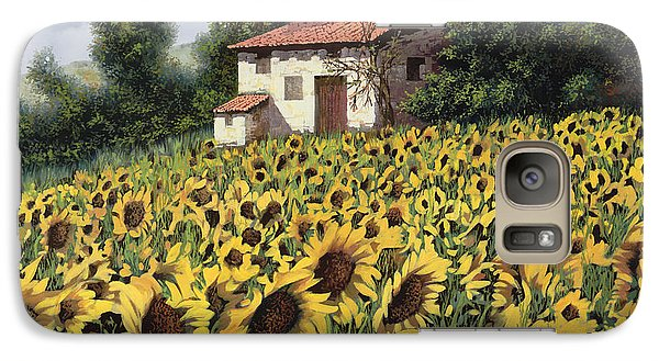 Sunflower Galaxy S7 Case - I Girasoli Nel Campo by Guido Borelli