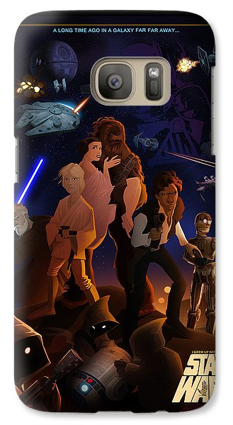 Galaxy Case featuring the digital art I Grew Up With Starwars by Nelson Dedos  Garcia