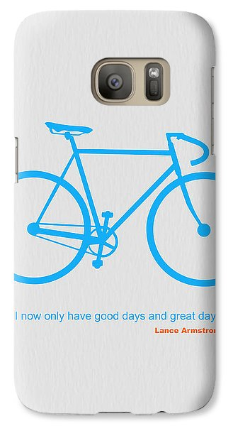 Bicycle Galaxy S7 Case - I Have Only Good Days And Great Days by Naxart Studio